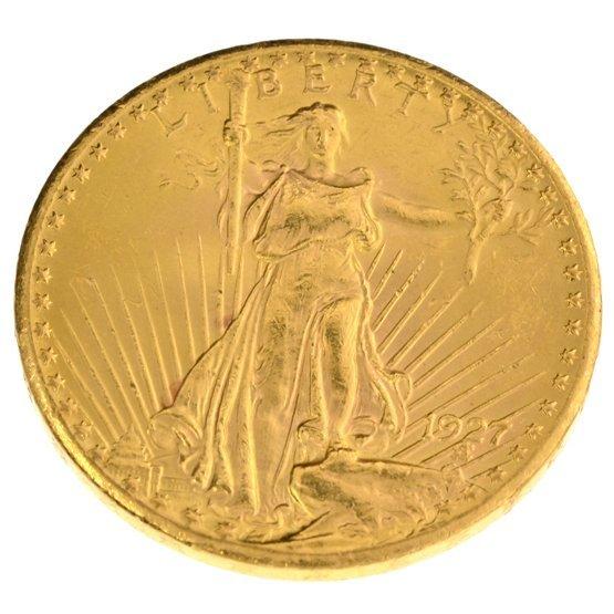 *1927-D $20 U.S. Saint Gaudens Type Gold Coin