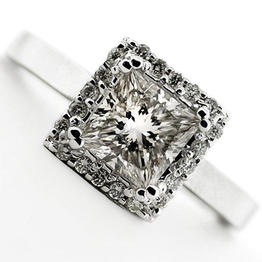 APP: 4.9k *14 kt. White Gold, 1.02CT Diamond Ring