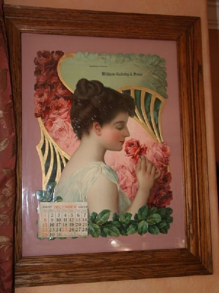 Victorian Print-One of the Finest-Girl with Roses