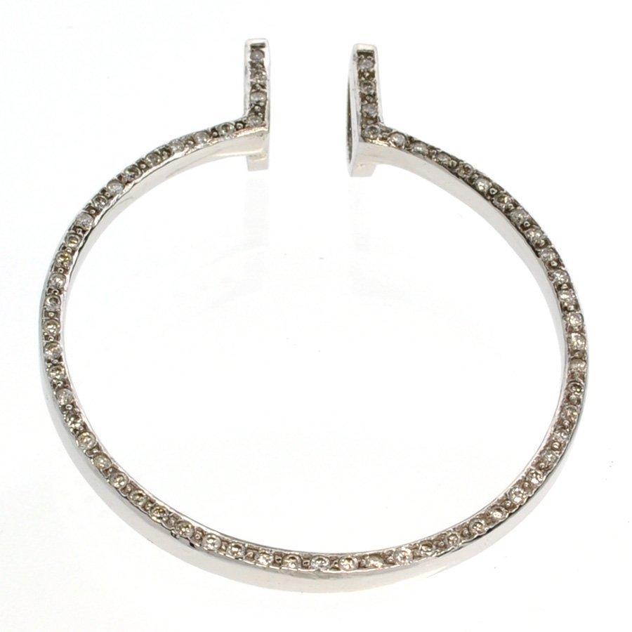 APP: 5k *14 kt. White Gold, 0.74CT Diamonds Pendant