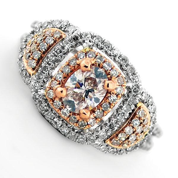 APP: 10k *14kt White & Rose Gold, 1CT Diamond Ring