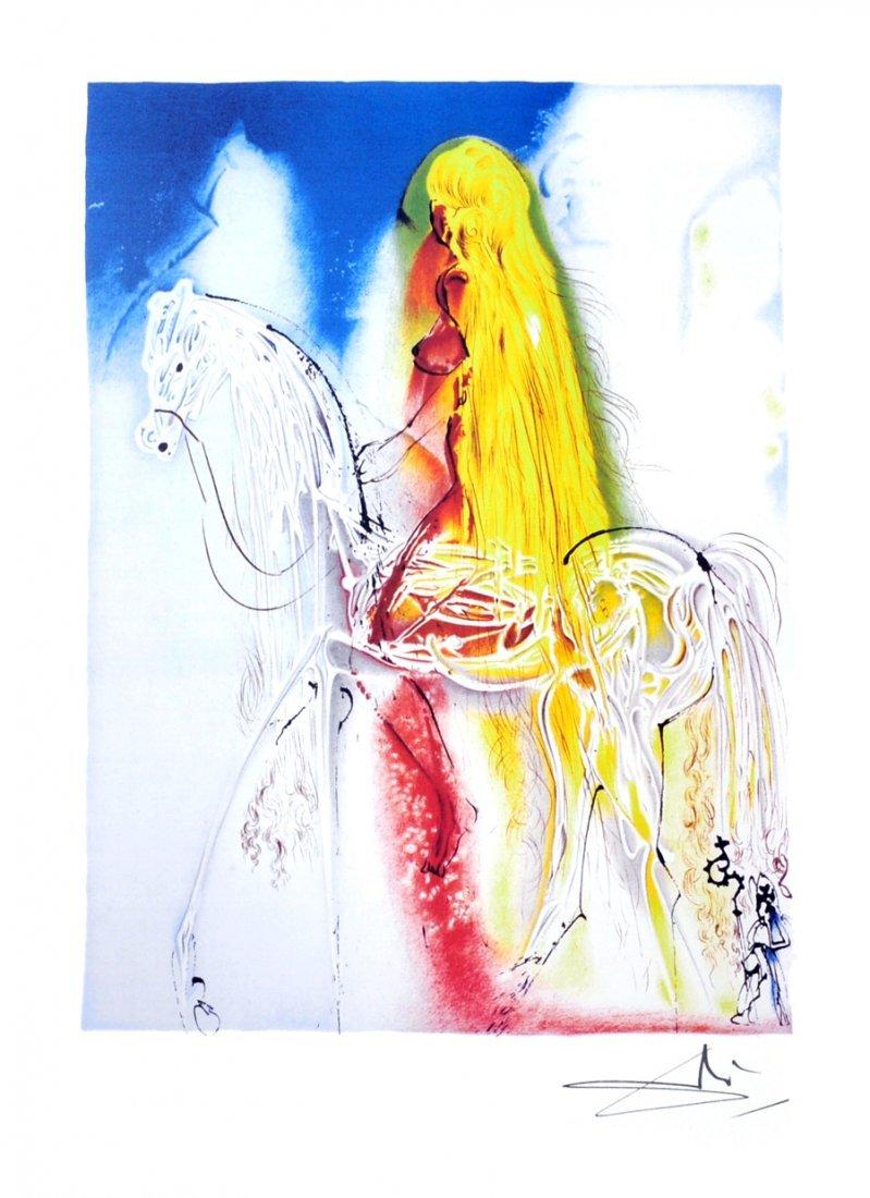 SALVADOR DALI Lady Godiva Print, Limited Edition