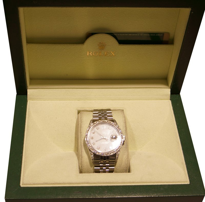 Rolex Datejust (White Dial) Watch