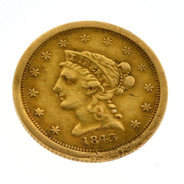 1843-O $2.5 U.S. Liberty Head Gold Coin - Investment