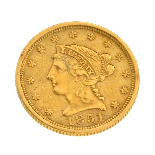 1851 $2.50 U.S Liberty Head Type Gold Coin - Investment