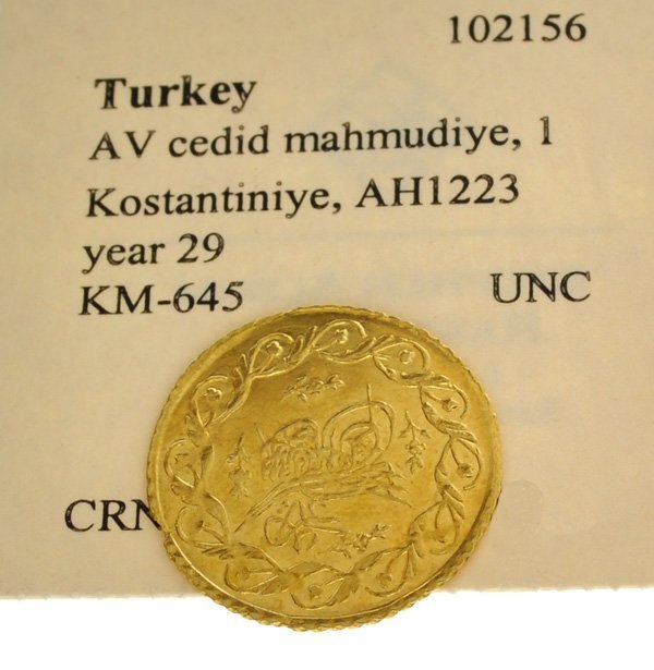 Early Dated Museum Turkish Gold Coin - Investment