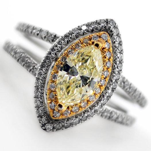APP: 9k *14kt White & Yellow Gold, 1.32CT Diamond Ring
