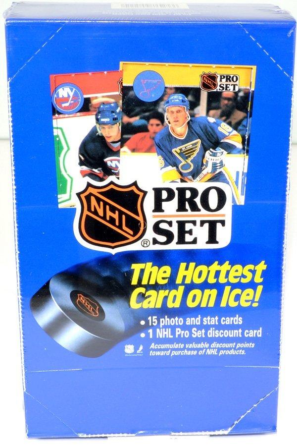 1990 Unopened Box of NHL Pro Set Hockey Cards 36ct