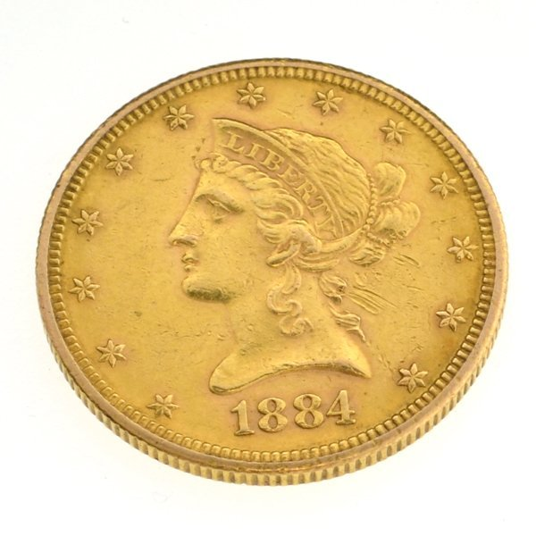 1884-S $10 U.S Liberty Head Type Gold Coin - Investment