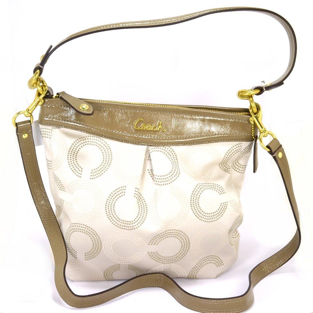 Coach Ashley Dotted Hippie Khaki Bag