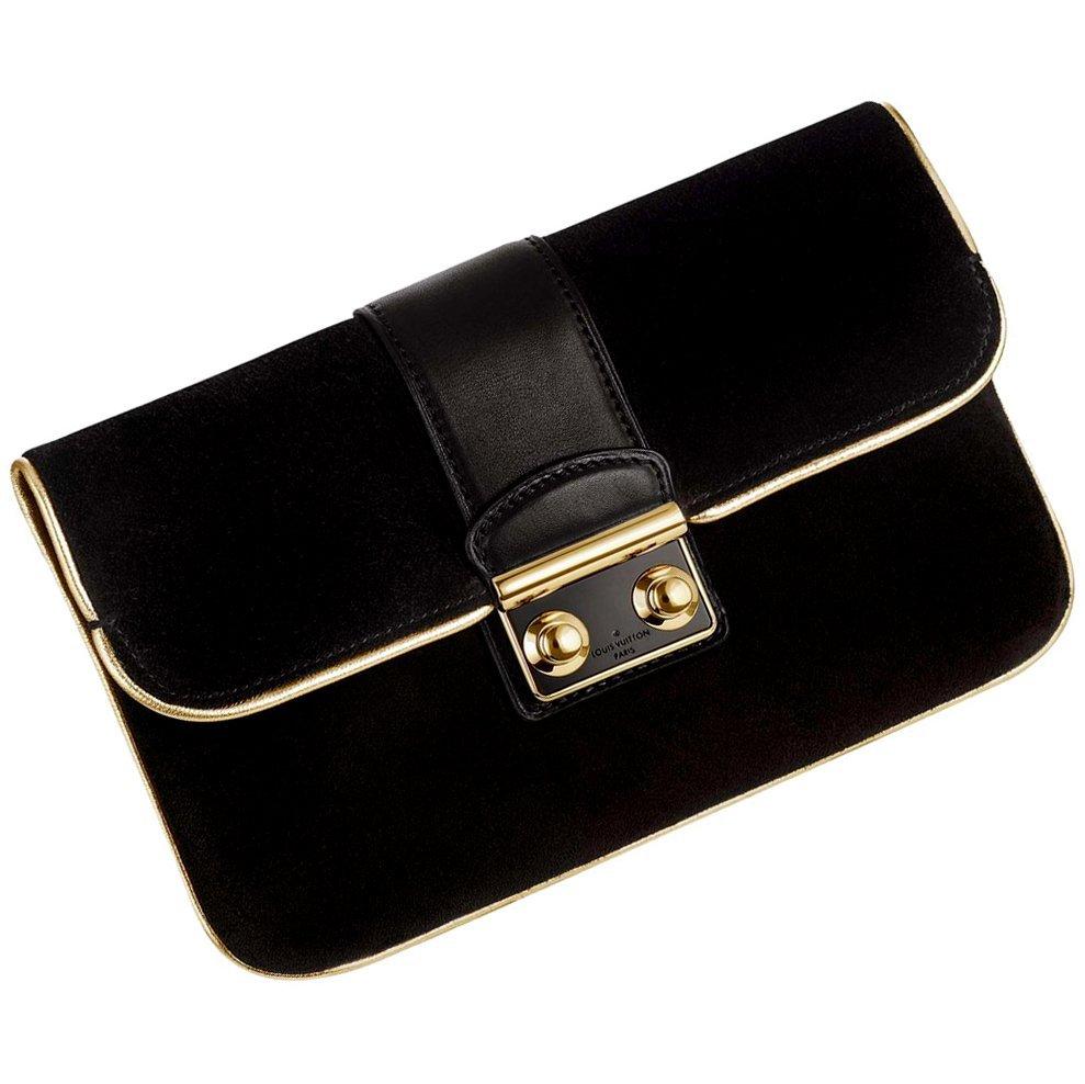 Louis Vuitton Slim Suede Coal Handbag