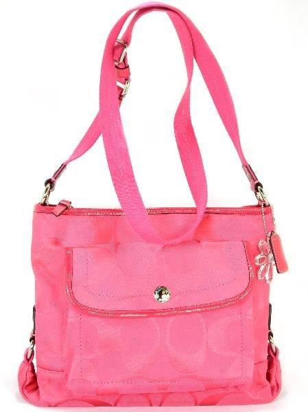 Coach Kyra Signature Pink File Crossbody Bag