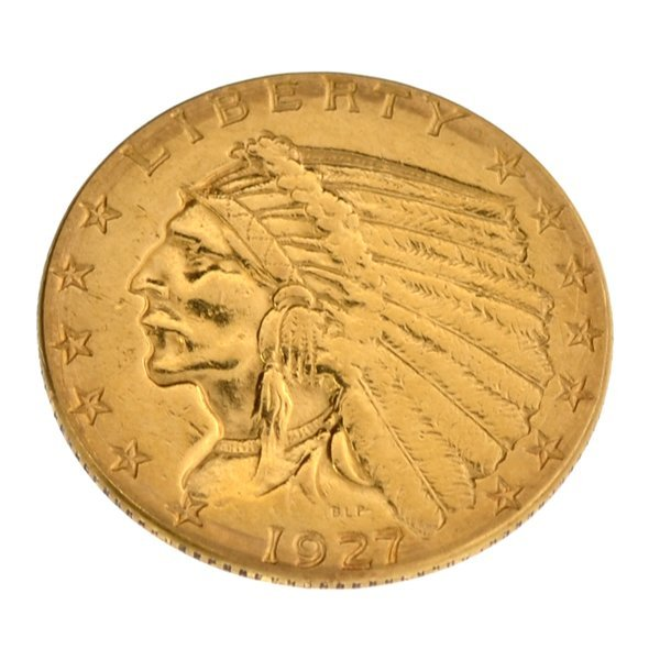 *1927 $2.50 U.S Indian Head Type Gold Coin - Investment