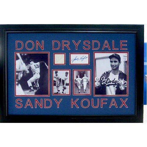 Don Drysdale & Sandy Koufax - Authentic Signatures