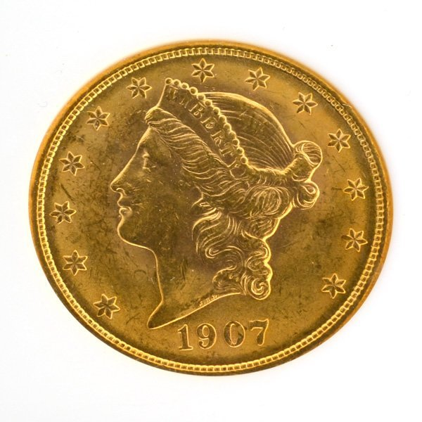 *1907 $20 U.S Liberty Head Gold Coin - Investment