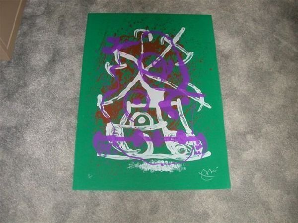 Signed Joan Miro ''Horse Ride'' Lithograph