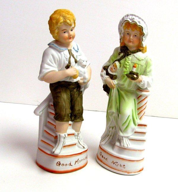 Good Morning & Night Pair 10in Figurines