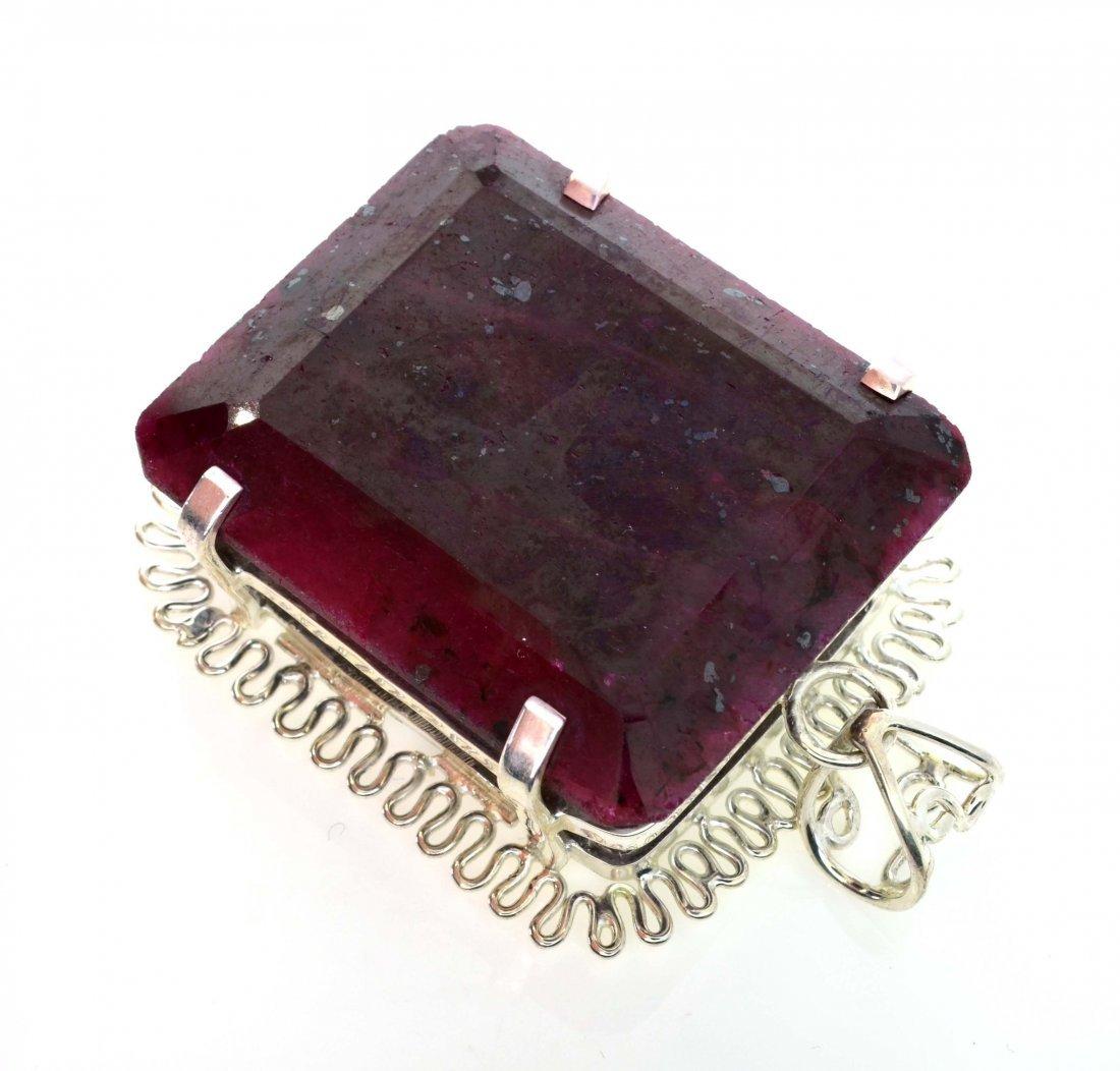 APP: 16k Sebastian 398CT Ruby & Silver Pendant