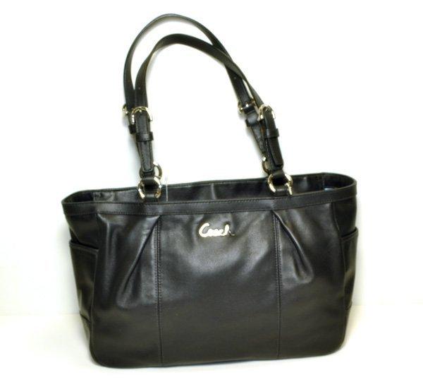 Coach- Original- Handcrafted Black Leather Purse