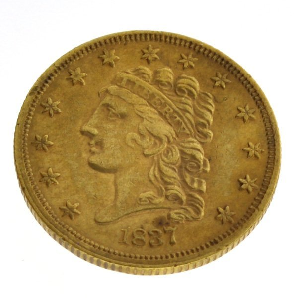 *1837 $2.5  Classic Head Gold Coin - Investment