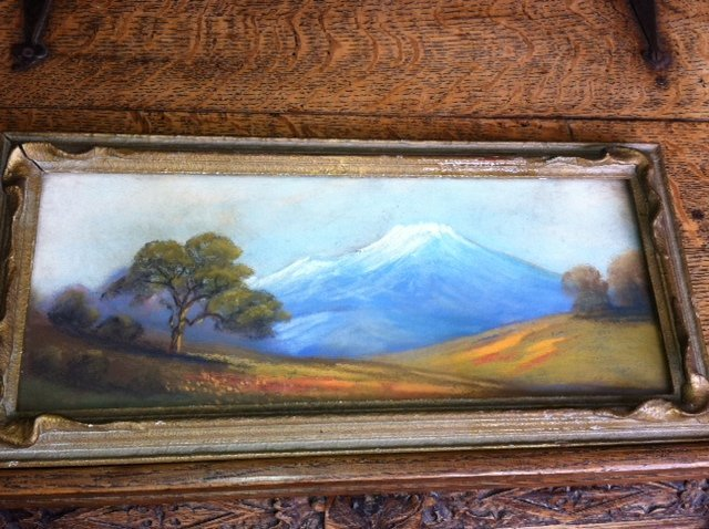 Unsigned Watercolor Painting In California Frame