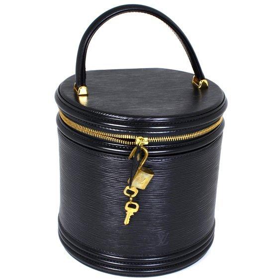 Authentic Louis Vuitton Cannes Black Epi Vanity Bag