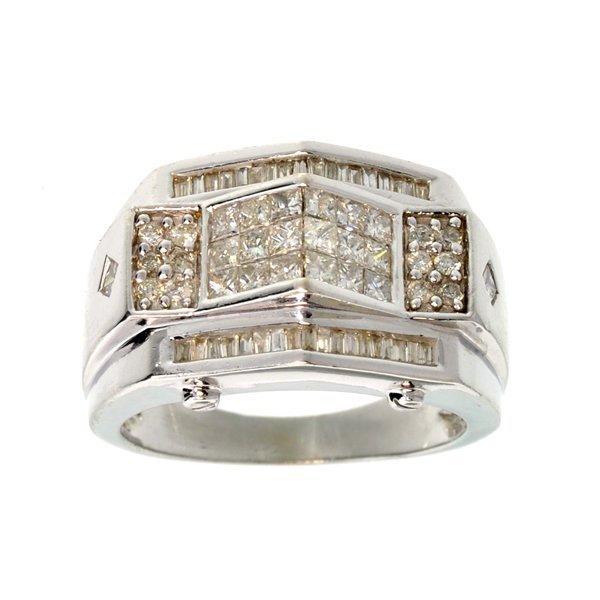 APP: 7.9k *14 kt. White Gold, 1.65CT Diamond Ring