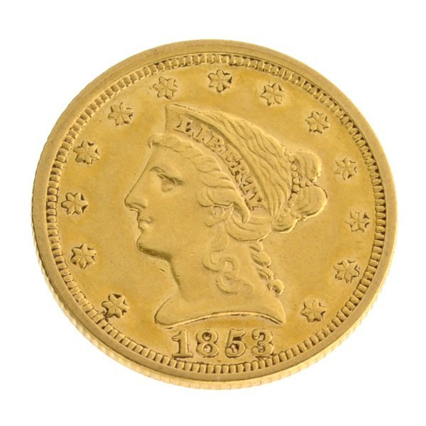 *1853 $2.5 U.S Liberty Head Gold Coin - Investment