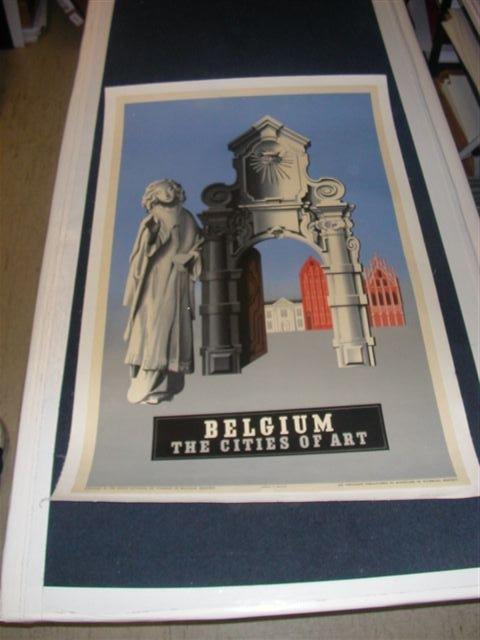 Belgium - Cities of Art on Linen