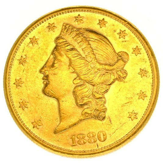 *1880-S $20 U.S. Liberty Head Gold Coin - Investment