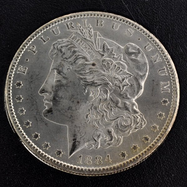 1884-CC United States Uncirculated Morgan Silver Dollar