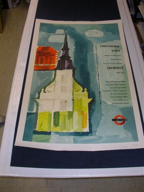 Set of 2 Christopher Wren Posters by Unger on Linen