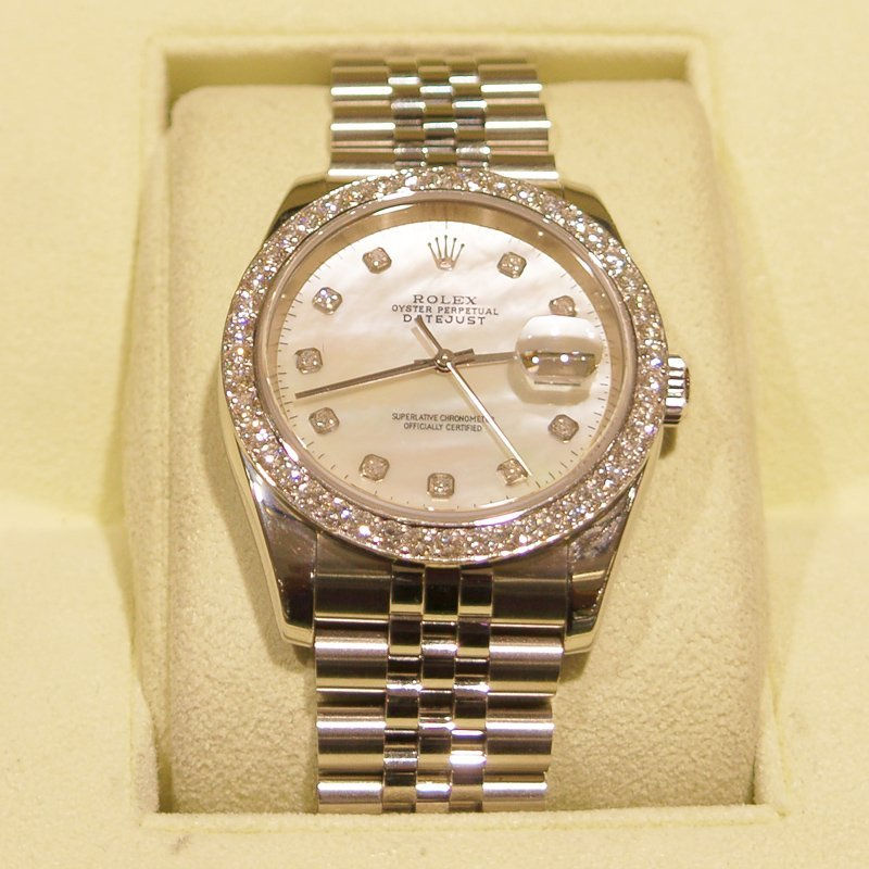 Men's Rolex Datejust (Mother of Pearl) Year 2005 Watch - 2