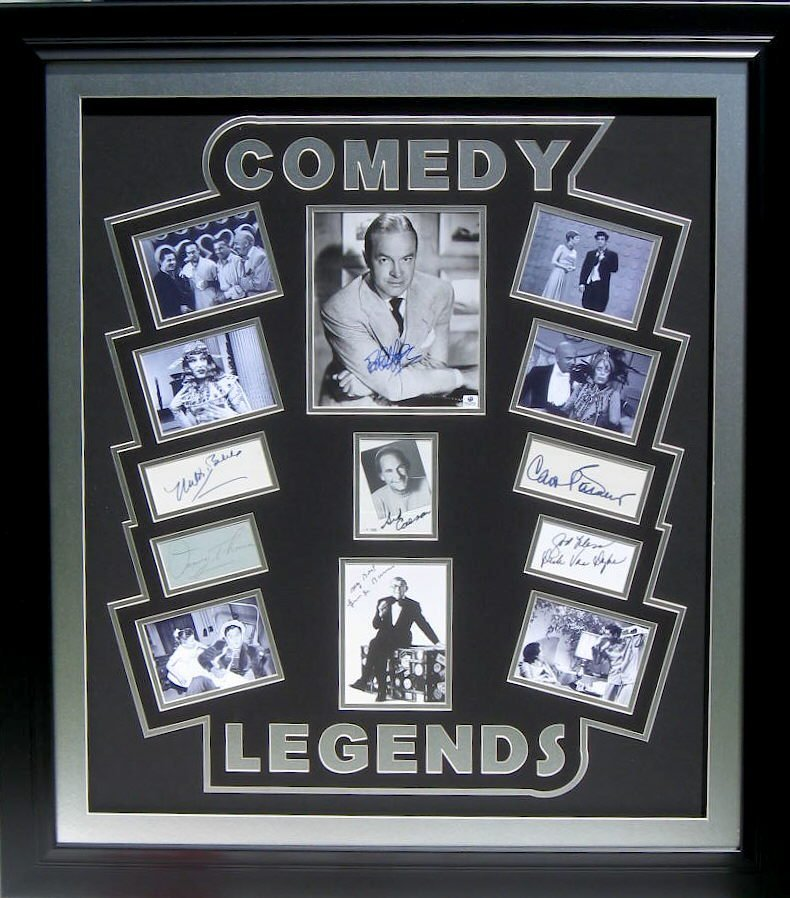 Comedy Legends- Hope, Van Dyke Etc Authentic Signatures
