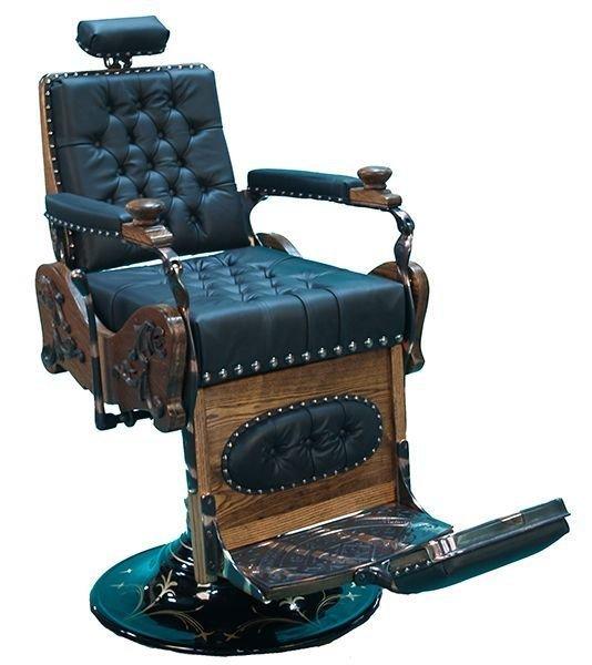 Restored Early Oak Barber Chair ''Hornung'' - Pick Up