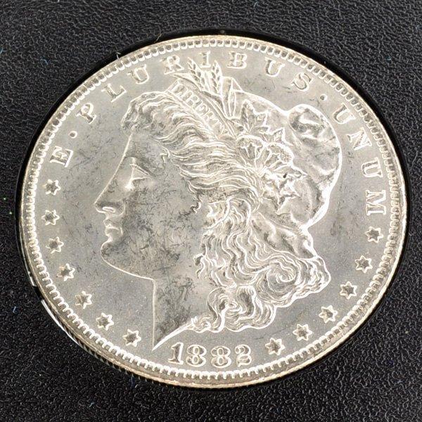 1882-CC Morgan Silver Dollar Coin - Investment