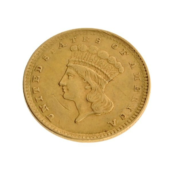 1857 $1 U.S. Indian Head Type Gold Coin - Investment