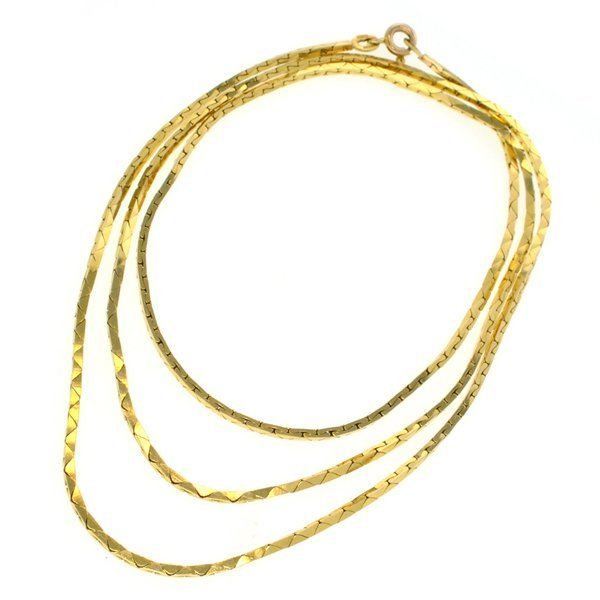 "APP: 3.2k *14 kt. Gold, 26"" 64.0CT Necklace"