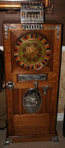 Rare Judge Up Right Slot Machine-Restored -P-
