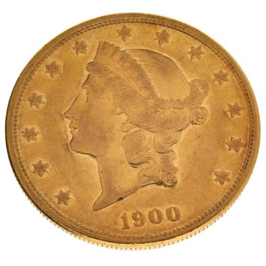 *1900-S $20 Liberty Head Gold Coin - Investment