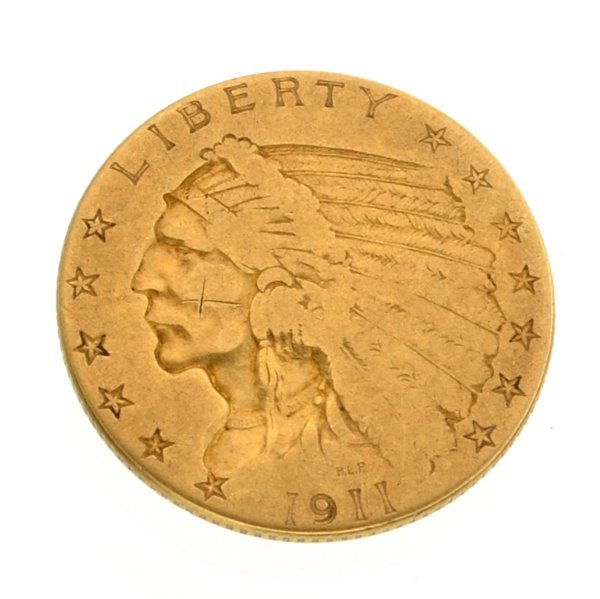 1911 $2.50 U.S Indian Head Gold Coin - Investment