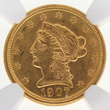 *1907 $2.5 Liberty Head Gold Coin - Investment