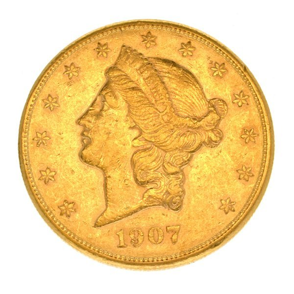 *1907-S $20 U.S. Liberty Head Gold Coin - Investment