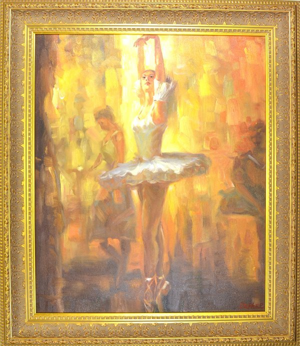 Original Painting Museum Framed Mint Condition 25x30