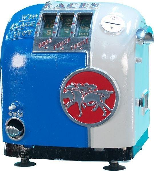 Coin-Op Countertop Daval Horserace Gumball Machine -P-