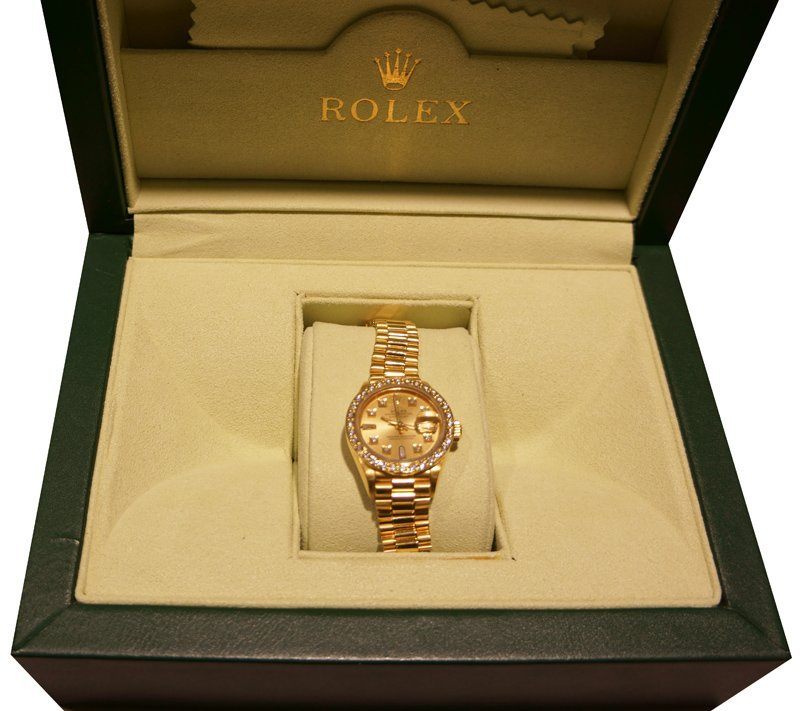 18kt Yellow Gold Lady's Rolex Datejust Watch - No