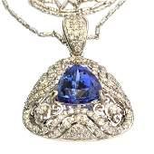APP: 14k *14kt Wt Gld, Tanzanite & 1CT Diamond Pendant