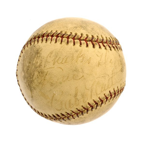 Babe Ruth New York Yankees Signed Authograph Baseball