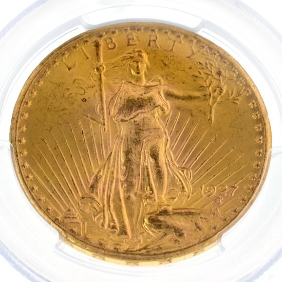 *1927 $20 U.S. Saint Gaudens Type Gold Coin