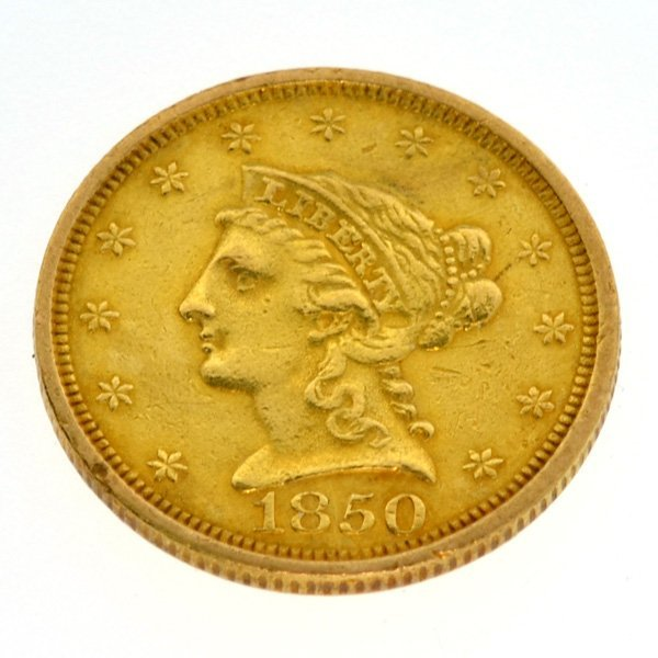 1850 $1 U.S. Liberty Head Gold Coin - Investment